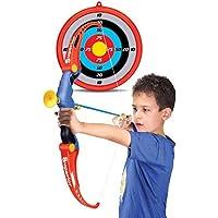 ColiCor Arco de Tiro con Arco para niños, Niños Conjunto de Arco y Flecha con carcaj, 3 Flechas y 1 Dedo Objetivo