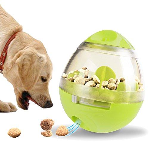 Hundespielzeug Futterspender Spielzeug-Spender Croquettes Tier Schale Steh Haustiere, interaktives Hundespielzeug poussah Zubehör Anti gefräßige -