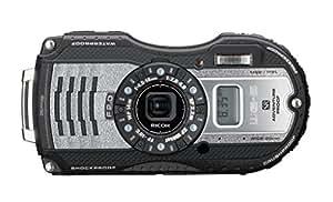 """Ricoh WG-5 GPS Fotocamera Compatta, Risoluzione 16 Megapixel, Zoom Ottico 4x, Obiettivo 25-100mm, Display LCD da 3"""", Impermeabile Fino a 14 m, Grigio Scuro"""