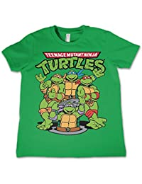 Officially Licensed Merchandise TMNT Group Unisex Kids T Shirts Ages 3-12 Years