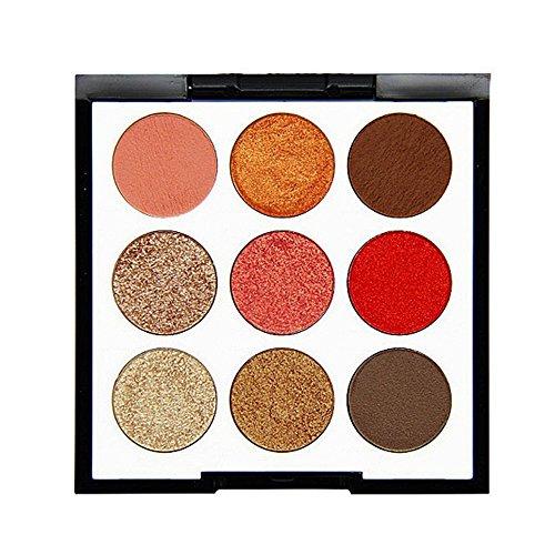 ReooLy 9 Farbperlen Glitter Lidschatten Puder Palette Matt Lidschatten kosmetisches Make-up