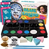 Kinderschminke Set Face Paint von Blue Squid | Ultimate Party Painting Pack | Hochwertiges Kinder Schminkset Ideal für Kinder Partys Mädchen, Halloween & Fasching | Professionellemit Kinderschminke mit großer Auswahl an Schminkfarben, Schablonen, Glitzer, Gesichtsfarben | Wasserbasiert und Ungiftig
