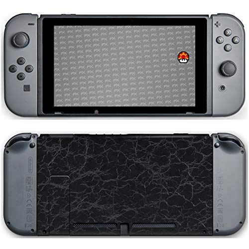 atFoliX Nintendo Switch Skin 'FX-Rugged-Leather-Black' Sticker Pegatina - Estructura de cuero grueso