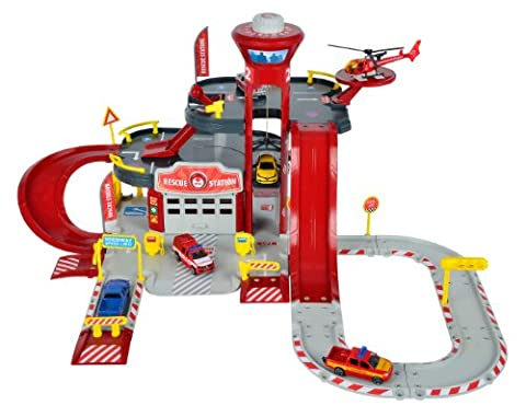 Dickie Toys - 212050015 - Circuit - Majorette - Creatix Rescue Station - 1 Hélicoptère Et 1