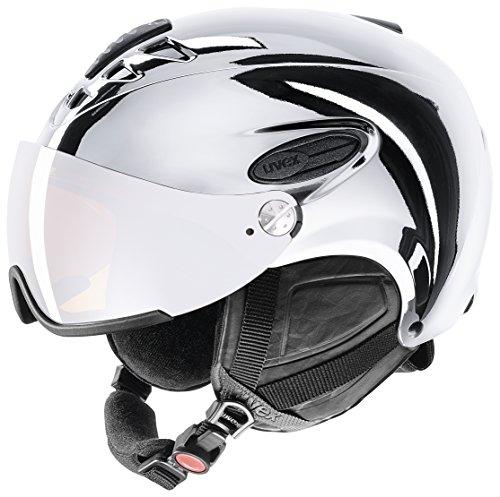 Uvex hlmt 300 visor chrome ltd sci, snowboard/sci nero, argento casco protettivo