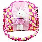 Tickles Cute Stuffed Rabbit School Sling Bag for Girls KidsAT-B 3 litres
