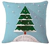 Youkara Christmas Pillow case, morbido Natale federa divano vita gettare cuscino 45cmx45cm/45x 45cm