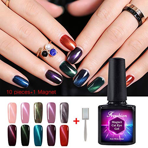 10Pcs 10ml Magnetic Cat Eye Gel Polish 3D Nail Polish