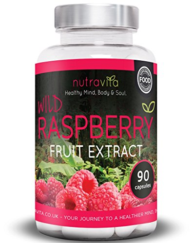 Wild Raspberry Ketones Fruit Extract by Nutravita | 90 Capsules of the purest Naturally Sourced Wild Raspberry Ketones | Made in the UK Test