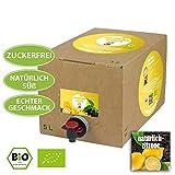 Natürlich-Zitrone (5 L) - glücklicher mönch Bioeistee - süßes Bio-Eisteekonzentrat ohne Zucker. Voll natürlich