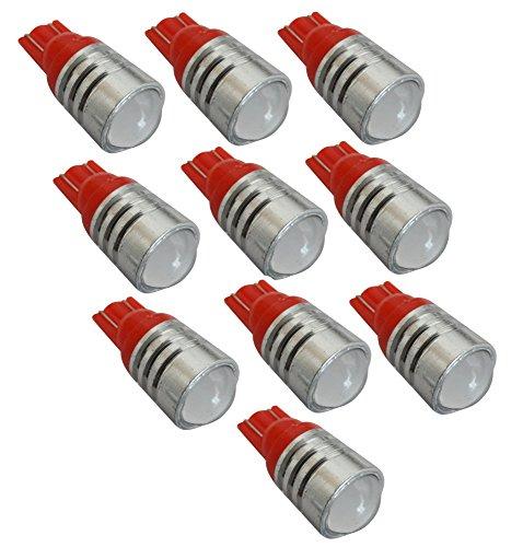 AERZETIX: 10x Ampoule T10 W5W 12V LED High Power Rouge veilleuses éclairage intérieur seuils de Porte plafonnier Pieds Lecteur de Carte Coffre Compartiment Moteur Plaque d'immatriculation
