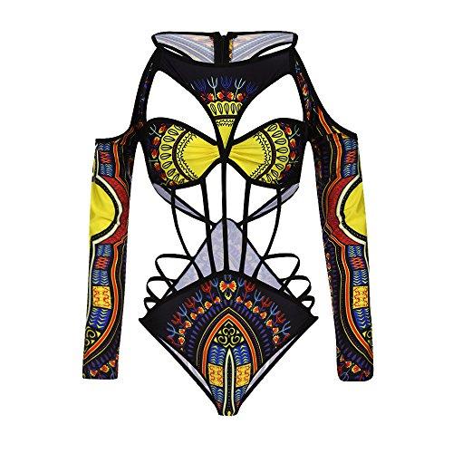 PinkLu Bikini éTnico Vintage Estampado Africano para Mujer Traje De BañO De Bikini con Estampado Africano...