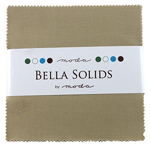 Bella Solids Tan Charm Pack 42 Squares 5 Moda Fabrics 9900PP 13 by Moda Fabrics -