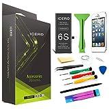 ICERO 2200mah Ricambio Batteria per iPhone 6s Alta Capacita Nero Compatibile con Kit. PRUDUZIONE 2019[Batteria per iP 6S]