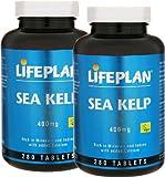 2 Bottles of Lifeplan Sea Kelp 400mg 280 Tablets (560 tablets) by LIFEPLAN