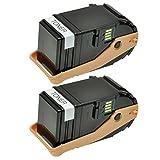 2 Toner für Epson Aculaser C9300 DTN D3 TNC 2 TN - C13S050605 - Schwarz je 7500 Seiten