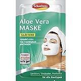 10 x Schaebens Aloe Vera Gesichtsmaske - spendet extra viel Feuchtigkeit und belebt (10 x 2 x 5mL für 20 Anwendungen)