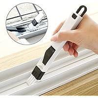 NYAL ENTERPRISE 2 in 1 Multi-Function PP Plastic Window Slot Screen Keyboard Drawer Wardrobe Corner Gap Dust Removal Cleaning Brush with Dustpan