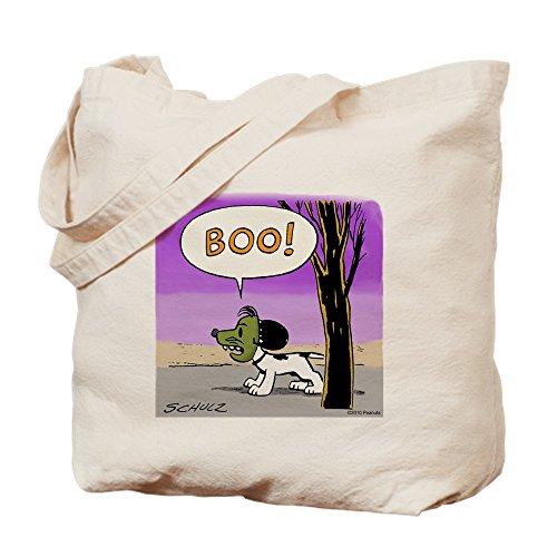 CafePress-BOO. Trick or Treat-Leinwand Natur Tasche, Reinigungstuch Einkaufstasche, canvas, khaki, Größe S (Lustig Halloween Charlie Brown)