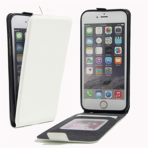 iPhone 6 Hülle Case,iPhone 6S Hülle Case,Gift_Source [Photo Card Slot] [Stand Feature] Elegant Up-Down Open Magnetic Snap Hülle Case Premium PU Leder Hülle Case Flip Hülle Case Cover für iPhone 6s / 6 E01-07-White160614