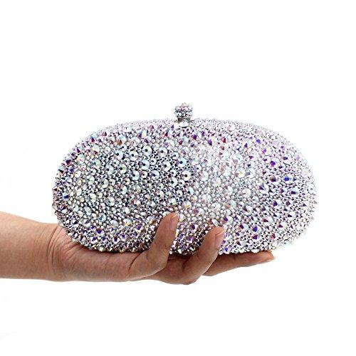 Dinner-Paket Europa und den Vereinigten Staaten Stil aristokratischen Paket Diamantbohrlöcher Beutel Brautbeutel Silber Silver