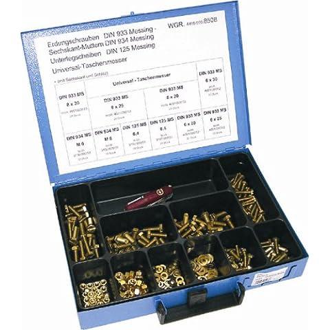 Dresselhaus 8508 - Set de tornillos con toma de tierra (latón)