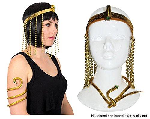 Cleopatra Set gold Stirnband und Armband Ägypten