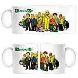 Taza Breaking Bad Personajes modo Simpsons