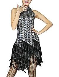 Robe Moulante À Franges Femme Déguisement Costume Années 20 Vintage Dance Dress