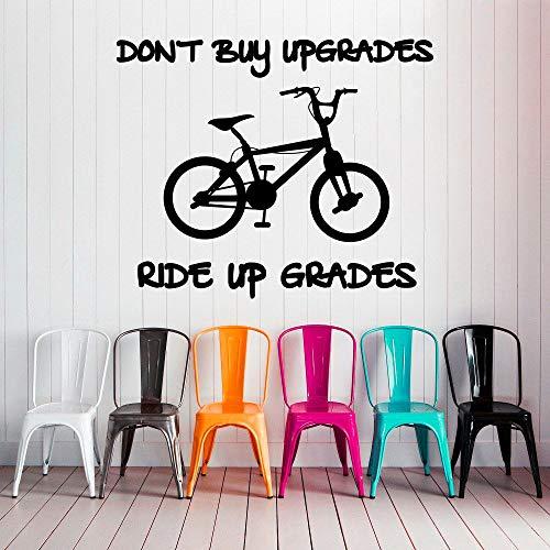 FahrradWandtattoosKaufen Sie keine Upgrades Sport Gym Home Vinyl Aufkleber 57x69 cm