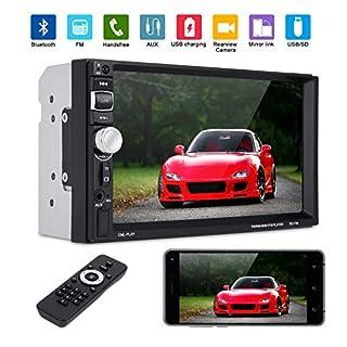xgody 7031Doppel Din Touchscreen Autoradio mit Bluetooth 17,8cm KFZ Radio Empfänger MP5Player unterstützt FM Radio USB- und-Speicherkarte mit Fernbedienung