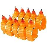 Bqlzr pollo Duck Spring Style 360gradi capezzolo acqua potabile bevitore pollame Farm use arancione confezione da 10