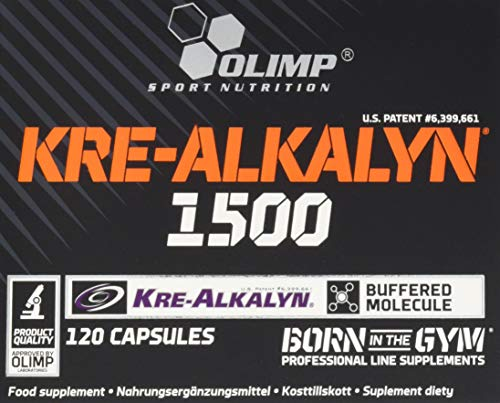 Olimp Kre-Alkalyn 1500 Mega Caps | Creatine | 120 Kapseln, 1er Pack (1 x 104,4 g)