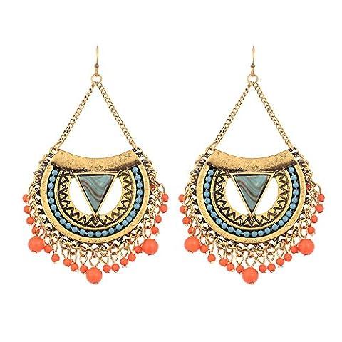 Boucle D Oreille Ethnique - lureme bohémien Women's boucles d'oreilles Résine Beads