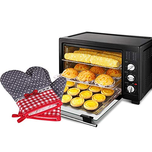 PZKSN Ofenhandschuhe Küche Mikrowellenherd Hitzebeständige Handschuhe Beständige Kochhandschuhe Werkzeuge Handschuh Ofen Isolierhandschuh (Baseball-handschuh-ofen-handschuh)