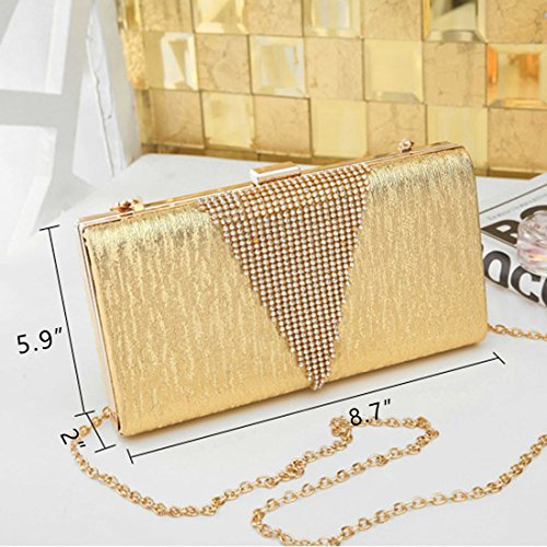 SSMK Envelope Clutch Bag, Poschette giorno donna Gold