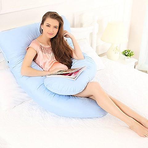 U cuscino cotone tinta unita in cotone rimovibile cuscino gravidanza