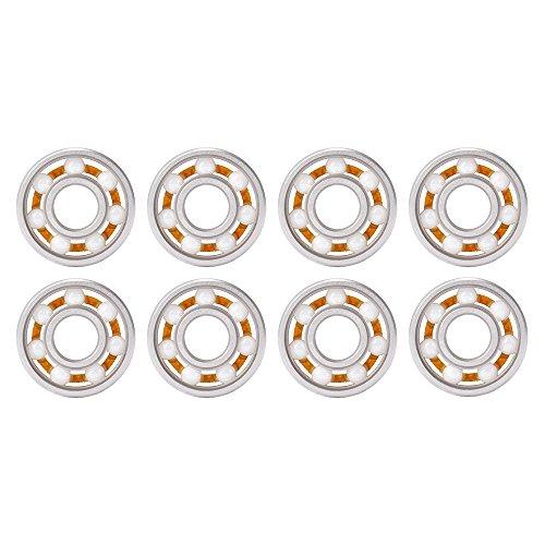 XCSOURCE® 8Stk Hochgeschwindigkeits 608 hybride keramische äußere / Mitte Lager Wiedereinbau für zappel Finger Handspinner TH649