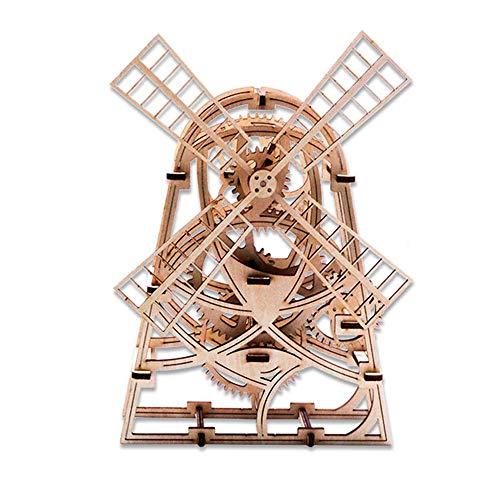 QPP-PT 3D Holz Maschinen Montiert Gebäude Modell DIY Getriebe Windmühle Märchen Kreative Flut Play Kinder Lernspielzeug Schule Geschenk -