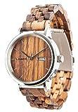 LAiMER orologio da polso automatico per uomini ROBERTO Mod. 0064 in legno Zebrano - Orologio...