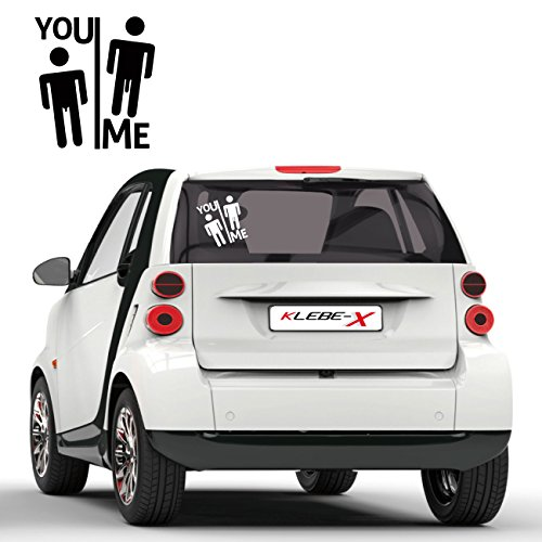 You and Me Tuning Sticker Provokation Aufkleber Cartattoo KLEBE-X Folienplot Fun Motive |F188
