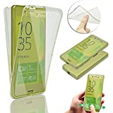 Sony Xperia X Coque de Protection Etui Transparent Antidérapant Pour Sony Xperia X Etui Protection Dorsale Étui,Vandot Sony Xperia X Slim Invisible Housse Cover Case en TPU Gel Silicone Hull Shell-Blanc