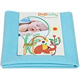OYO BABY - Water Proof and Reusable Mat/Bed Protector/Absorbent Dry Sheets (70cm X 50cm, Small) - Sea Blue