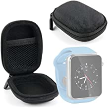 DURAGADGET Funda Negra Para Reloj AGPtek A1 | LaTEC | Pebble Classic | Time Round | Posma W1 | Pushman 1 | Zolimx U80 - Alta Calidad