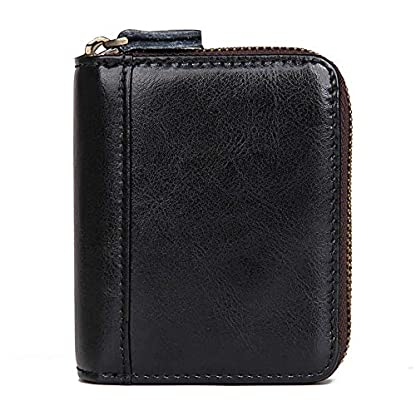51V4E0BwzaL. SS416  - TIDING Paquete de tarjetas de cuero Organ Organ Style Card Package Coin Purse Key Bag RFID Card Package