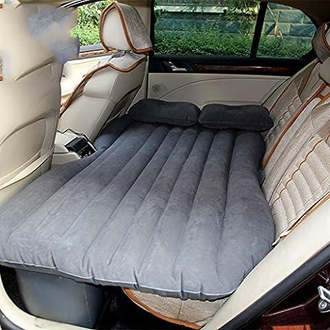 Alip lettino da viaggio auto gonfiabile affollamento ispessimento letto automobile materasso guida di veicoli letto scossa auto ( colore : Gray )