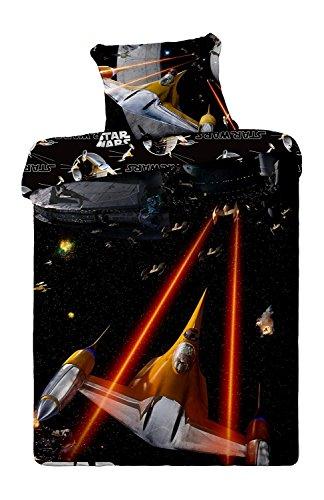 Star Wars Parure de Lit, Coton, Multicolore, 200x90x0,5 cm