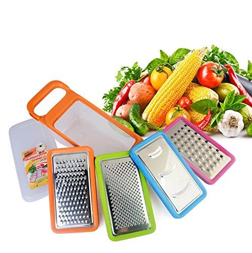 Verstellbarer Mandoline Gemüseschneider Kartoffelschneider, Zerteilen Gemüse Obst Schnell und gleichmäßig, Multischneider, Gemüsehobel, Gemüseschäler, Gemüsereibe und Julienneschneider