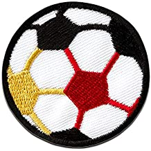 Parches - fútbol bola deporte - blanco - Ø4,7cm - by catch-the