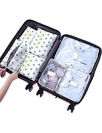 Yiran 7Set Organizadores de viajes Cubos de embalaje Bolsa de lavandería Bolsas de compresión de organizador de bolsa para la ropa, cosmético,zapato